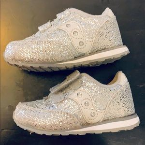 Toddler Saucony Jazz Sneaker: Silver Sparkle 5M Worn but in